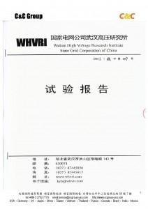 中國國家電網公司武漢高壓研究所試驗報告-001